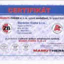 Certifikát MAMUT-THERM